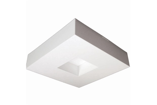 Plafon para  2 Lâmpadas Asturias Branco Quadrado - Madrilux