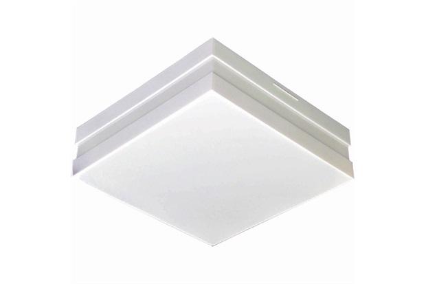 Plafon para 2 Lâmpadas Bilbao Quadrado Branco - Madrilux