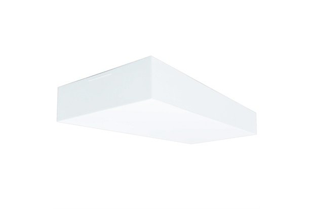 Plafon para 2 Lâmpadas Valencia Branco Retangular - Tualux