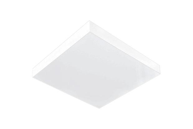 Plafon para 4 Lâmpadas Valência 04 Acrílico Branco Quadrado - Tualux