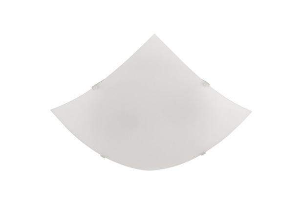 Plafon Quadrado 30 Cm para 2 Lâmpadas Cristal - Blumenau