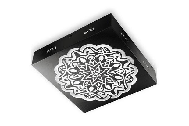 Plafon Quadrado Alhambra Preto 6000k Luz Branca - RCG Tecnologia