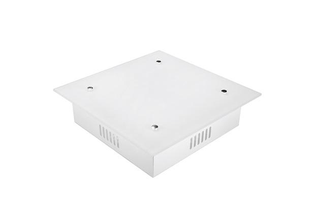 Plafon Quadrado para 2 Lâmpadas Zimbros Branco - Taschibra