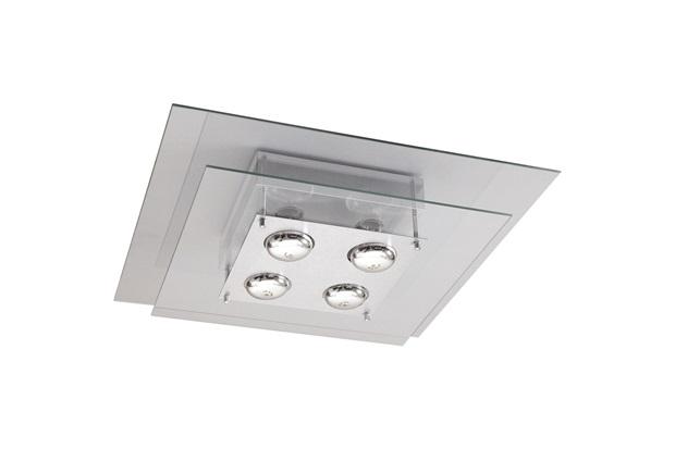 Plafon Quadrado para 4 Lâmpadas Spacial Transparente - Pantoja & Carmona