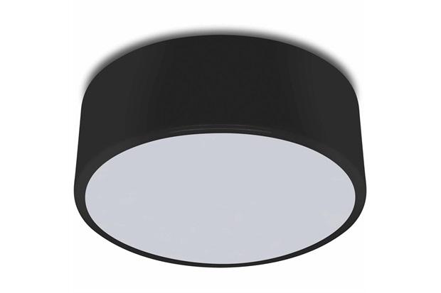 Plafon Redondo Clean 60w Bivolt 25cm Preto - Spot Line
