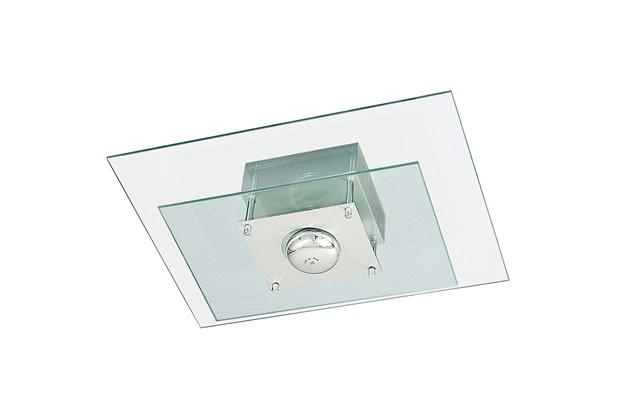 Plafon Retangular para 1 Lâmpada Spacial 40x30cm Transparente - Pantoja & Carmona