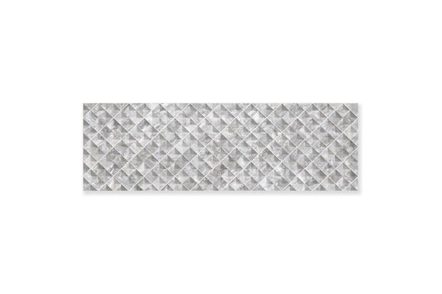 Porcelanato Acetinado Borda Reta Grid Concha Soft Gray 32x100cm - Ceusa