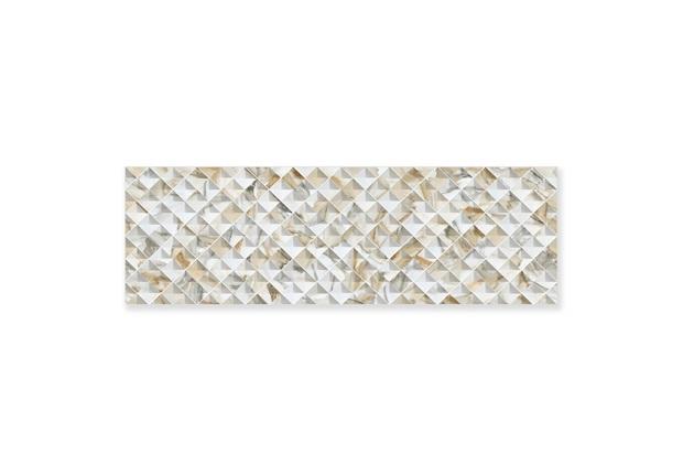 Porcelanato Acetinado Borda Reta Grid Madrepérola Off White 32x100cm - Ceusa