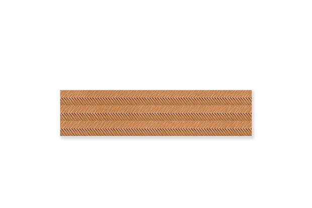 Porcelanato Acetinado Borda Reta Zigue Chevron Noce 28,8x119cm - Ceusa