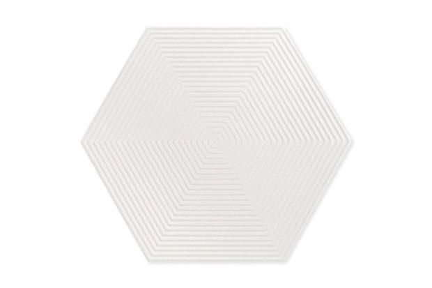 Porcelanato Borda Bold Love Hexa Matte Lux Branco 17,4x17,4cm - Cerâmica Portinari