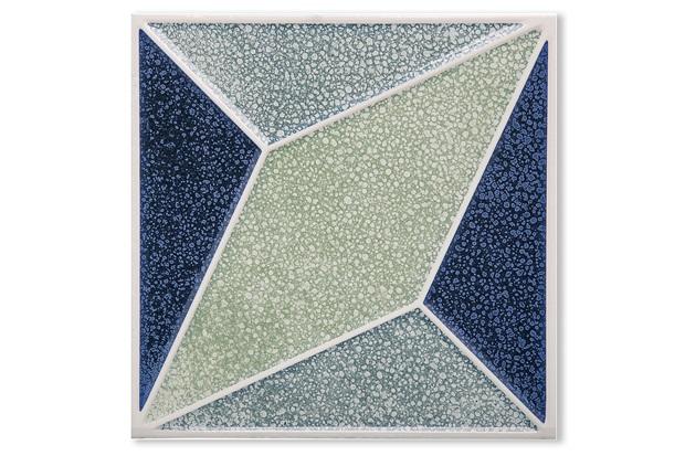 Porcelanato Brilhante Borda Bold Pixel Decor 1 20x20cm - Portinari