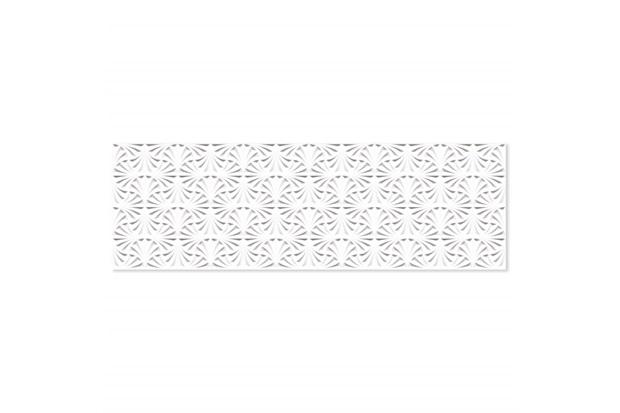 Porcelanato Esmaltado Acetinado Borda Reta Leque Branco 32x100cm - Ceusa