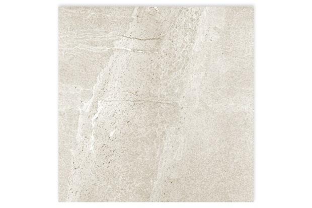 Porcelanato Esmaltado Acetinado Borda Reta Pietra Nera Branco 58,4x58,4cm - Portinari