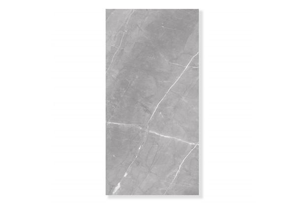 Porcelanato Esmaltado Polido Borda Reta Marmo Gris Cinza 80x160cm - Eliane