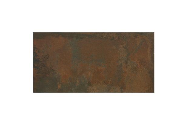 Porcelanato Esmaltado Rústico Borda Reta Iron Marrom 59x118,2cm - Eliane