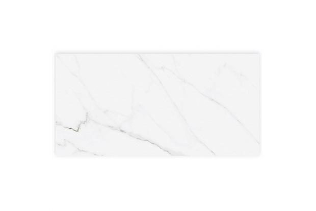 Porcelanato Hd Acetinado Borda Reta Calacata Clássico White 58,4x117cm - Cerâmica Portinari