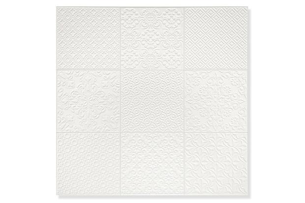 Porcelanato Natural Borda Reta Sintra Stucco Branco 58,4x58,4cm - Portinari