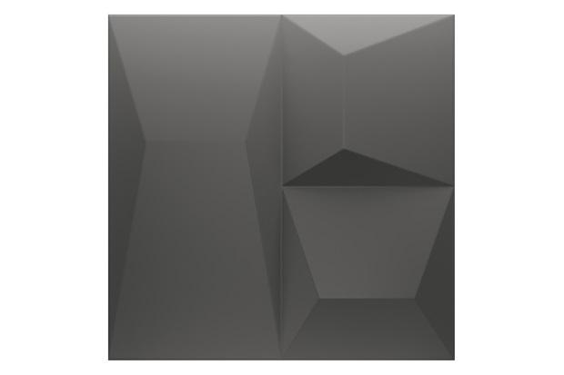 Porcelanato Natural Borda Reta Space Block Cinza Escuro 20,1x20,1cm - Portinari