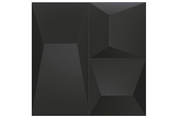 Porcelanato Natural Borda Reta Space Block Preto 20,1x20,1cm - Cerâmica Portinari