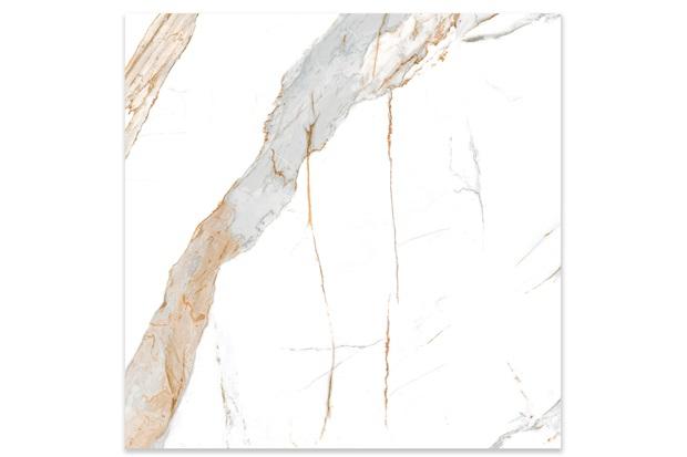 Porcelanato Polido Borda Reta Calacata Oro Lux 120x120cm - Biancogres