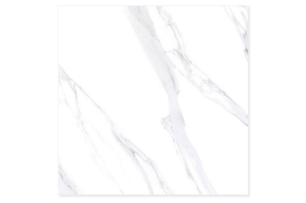 Porcelanato Polido Borda Reta Marmo Bianco Carrara 90,5x90,5cm - Villagres