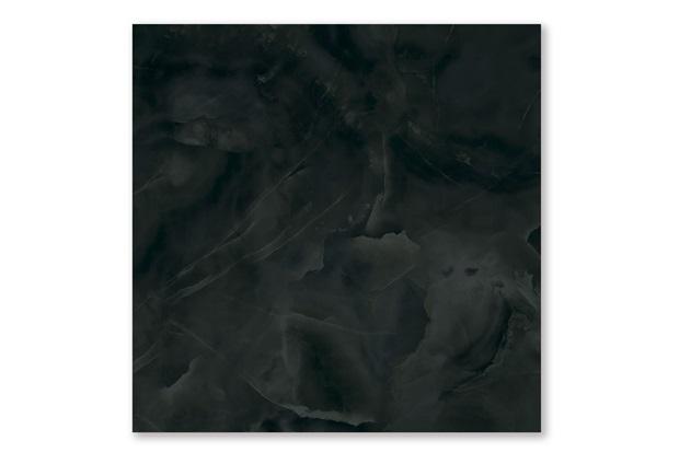 Porcelanato Polido Borda Reta Onice Preto 100x100cm - Cerâmica Portinari