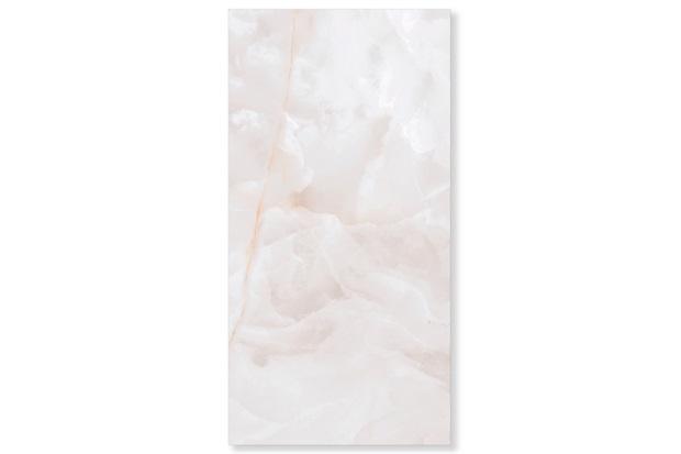 Porcelanato Polido Borda Reta Onix Bianco 52,7x105cm - Biancogres