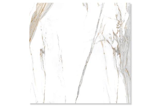 Porcelanato Retificado Acetinado Calacata Oro Satin Branco 120x120cm - Biancogres
