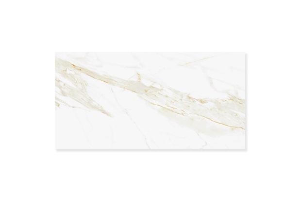 Porcelanato Retificado Acetinado Marmo Calacata Satin Branco 53x106cm - Biancogres