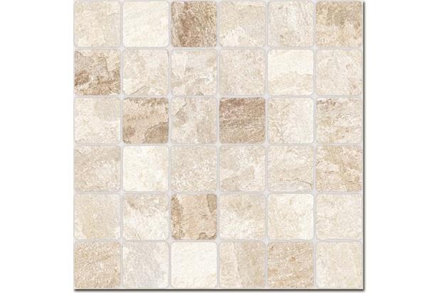 Porcelanato Rústico Borda Bold Mosaico Mineira 61x61cm - Buschinelli