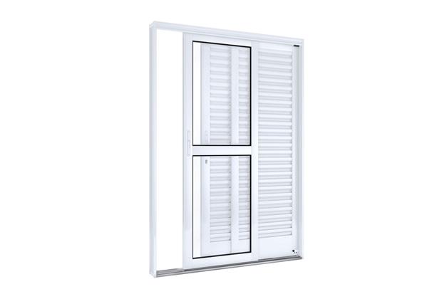 Porta Balcão Lateral Direito 215x150cm Branco - Lucasa