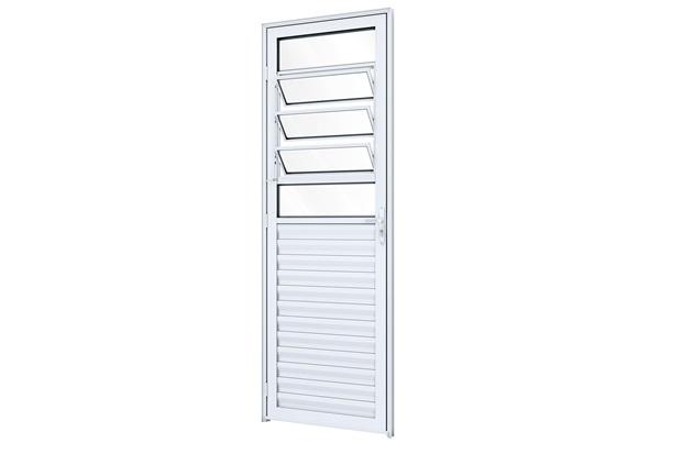 Porta Basculante Direita Ideale 215x85cm Branca - Lucasa