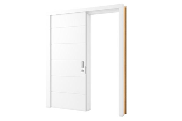 Porta de Correr em Mdp Sólido Esquerda Bella 210x82cm Branca - Vert