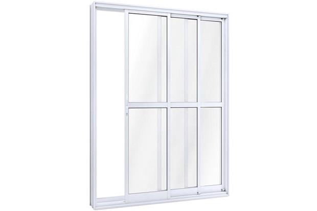 Porta de Correr Esquerda Ideale 215x150cm Branca - Lucasa