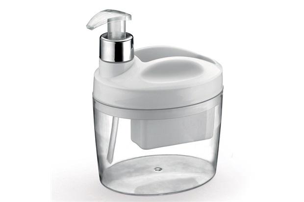 Porta Detergente Líquido E Bucha Branco - Arthi