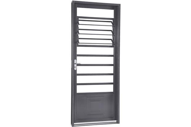 Porta Direita com Básculas Belfort 217x87cm Cinza - Sasazaki