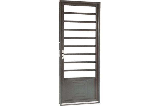 Porta Direita com Divisão Horizontal Belfort 217x87cm Cinza - Sasazaki