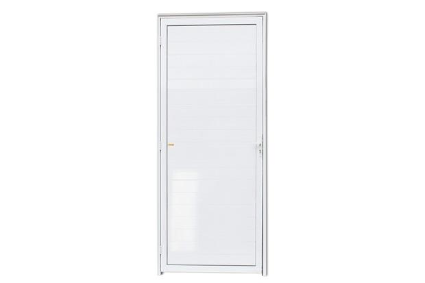 Porta Direita com Lambri em Alumínio Super 25 210x70cm Branca - Brimak