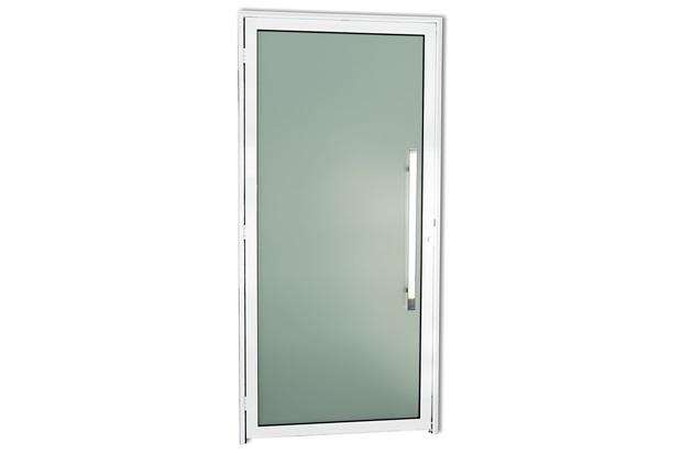 Porta Direita com Puxador em Alumínio Super 25 Murano 210x90cm Branca - Brimak