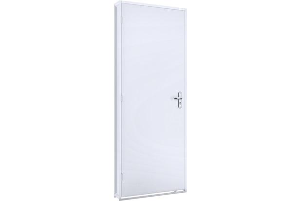 Porta Duraplac com Batente em Aço Esquerda Facilità 215x86cm Branca - Lucasa