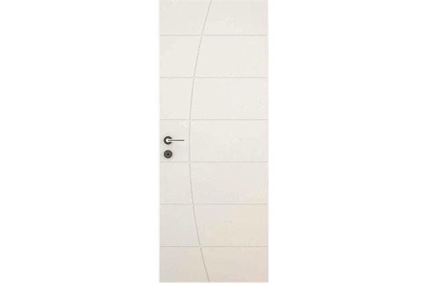 Porta em Mdf Pré Pintada Elegance 210x70cm Branca - Vert