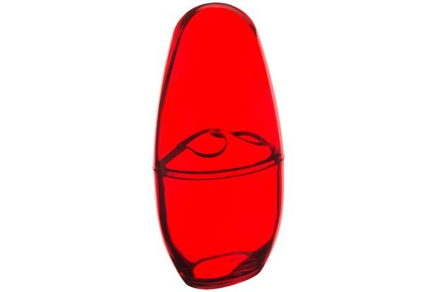 Porta Escova com Tampa Spoom 21x10,6cm Vermelho - Coza