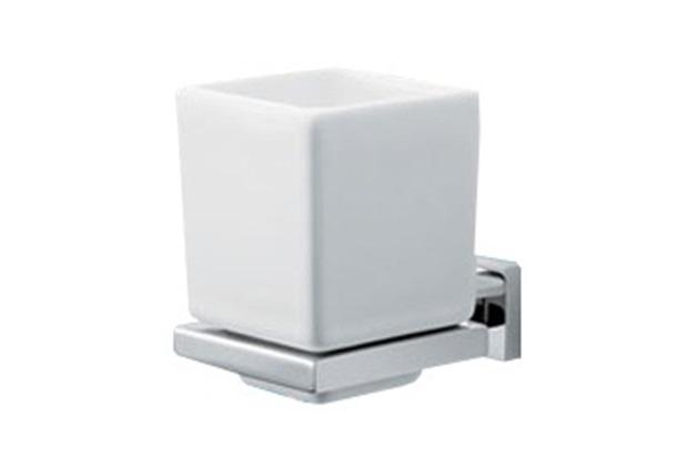 Porta Escova de Dente Quadratta Cromado - Deca
