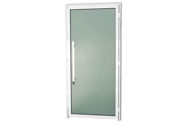 Porta Esquerda com Puxador em Alumínio Super 25 Murano 210x90cm Branca - Brimak