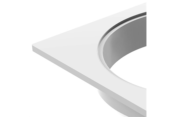 Porta Grelha Quadrado para Grelha Redonda 100mm Branco - Tigre