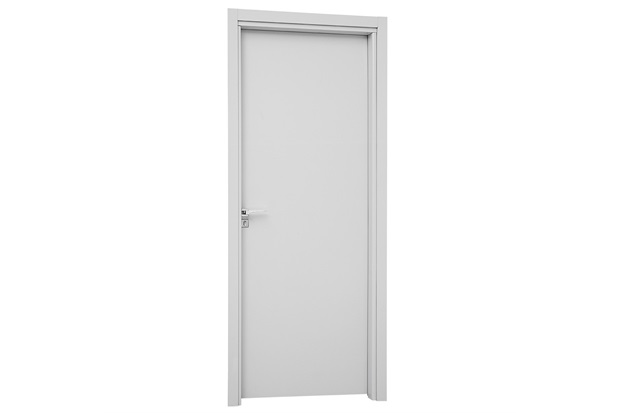 Porta Interna Direita Aluminium 215x88cm Branca - Sasazaki