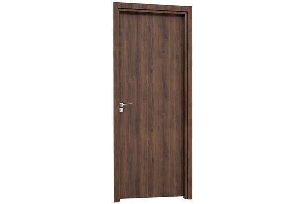 Porta Interna Direita Aluminium 215x88cm Mogno - Sasazaki