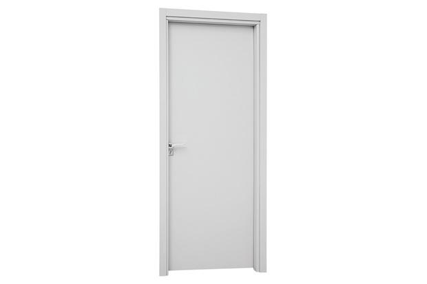 Porta Interna Direita Aluminium 215x88x14cm Branca - Sasazaki