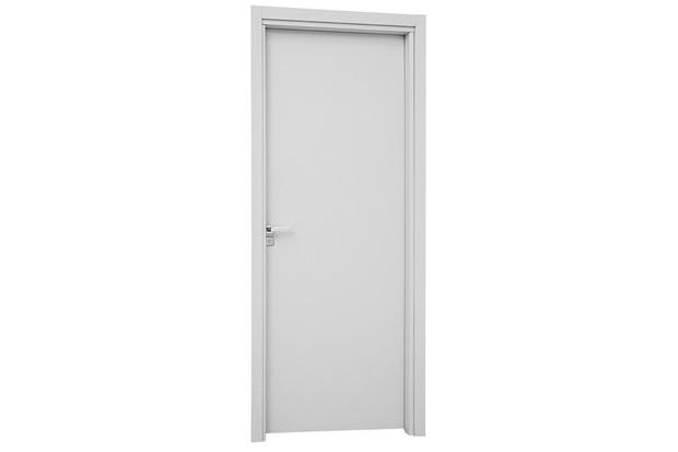 Porta Interna Direita para Banheiro Aluminium 215x78cm Branca - Sasazaki