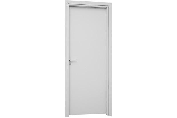 Porta Interna Direita para Banheiro Aluminium 215x78x14cm Branca - Sasazaki